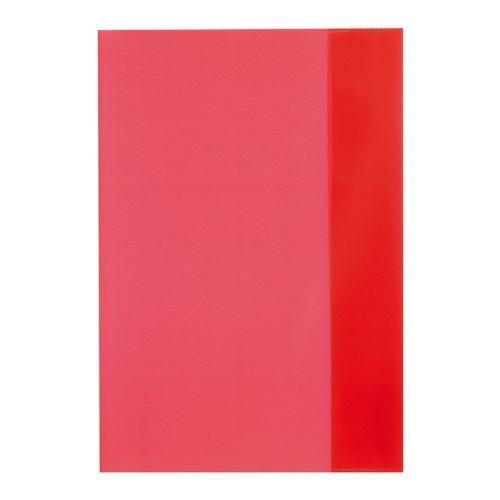 Herlitz füzetborító A5 PP átlátszó piros