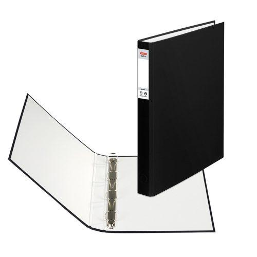 Herlitz Gyűrűskönyv A4 4 gyűrűs 2,5cm fekete
