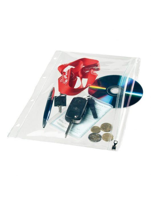 Herlitz cipzáras  tasak műanyag A5, 12,5x20,5 cm, többszínű