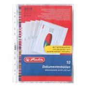 Herlitz lefűzhető dokumentumtartó A4/10 db
