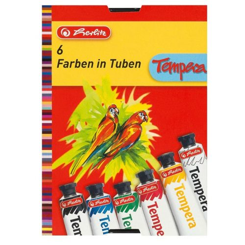 Herlitz tempera tubusos, 6 szín, 6 x 16 ml