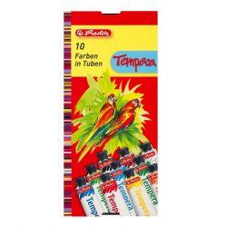 Herlitz tempera tubusos, 10 szín, 10 x 16 ml