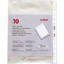 Lefűzhető tasak 10 db A4 víztiszta, genotherm