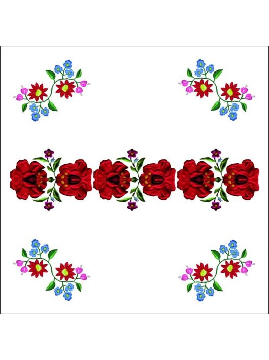 kockablokk - jegyzettömb FolkArt színes 500 lap, 10x10x5 cm