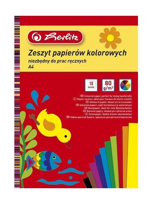 Herlitz kivágópapír/10 fényes 9560921