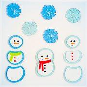 GELWONDER zselés üvegmatrica Little Snowmen