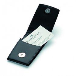 Graf von Faber-Castell bőr névjegytartó fekete, rücskös
