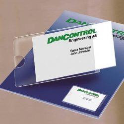 Névjegytartó zseb, öntapadó, oldalt nyitott, 60x95 mm, 3L (3L10109)