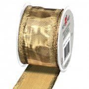 Textilszalag Glamour, 2m x 40mm, arany