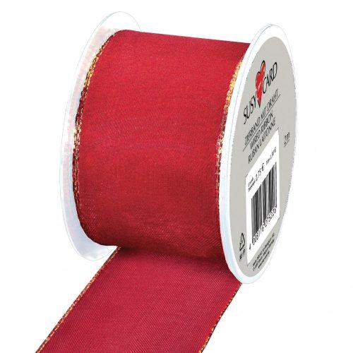 Textilszalag Glamour, 2m x 40mm, piros