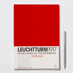 Vonalas jegyzetfüzet /piros/ - 210 x 297 mm