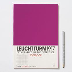 Négyzetrácsos jegyzetfüzet /pink/ - 210 x 297 mm