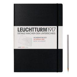 Vonalas beírótömb /fekete/  - 210 x 297 mm füzet - notesz