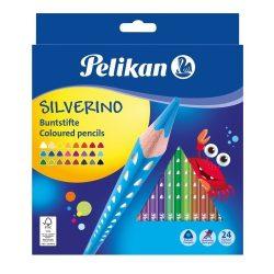 Pelikan Színesceruza/24 szín Silverino