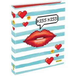 ONLINE Gyűrűsmappa A4, Kiss Kiss