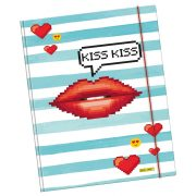 ONLINE Gumismappa A4, Kiss Kiss