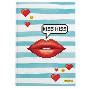 ONLINE Notesz A5, Kiss Kiss