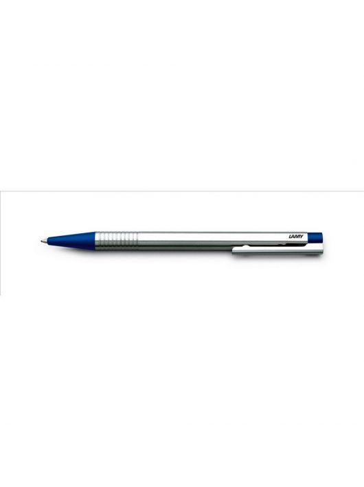 LAMY logo, golyóstoll kék betéttel, rozsdamentes acél  műanyag véggel, kék, 205