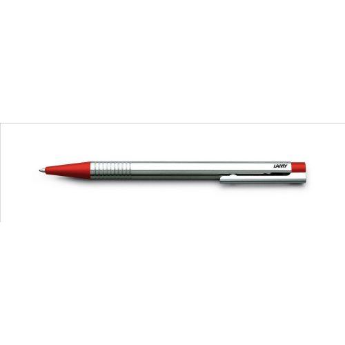 LAMY logo, golyóstoll kék betéttel, rozsdamentes acél műanyag véggel, piros, 205
