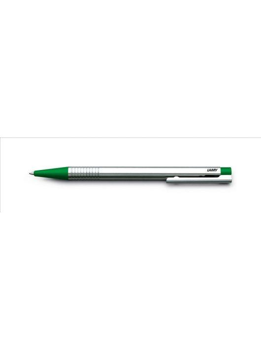 LAMY logo, golyóstoll kék betéttel, rozsdamentes acél műanyag véggel, zöld, 205