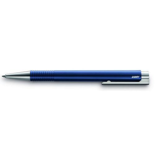 LAMY logo M+, golyóstoll kék betéttel, tartós műanyag fém kupakkal, kék, 204
