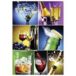 Képeslap, Maxi, A4, italok