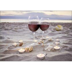Képeslap, bor és tengerpart