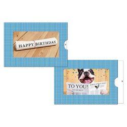 Képeslap, zippes, Happy Birthday (újság)