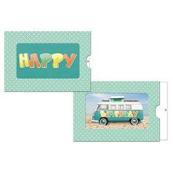 Képeslap, zippes, Happy (zöld)