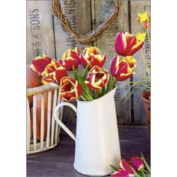 Képeslap, tulipánok