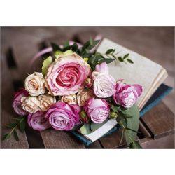 Képeslap, rózsa