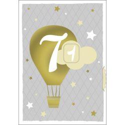 Képeslap tekerős hetven, hőlégballon