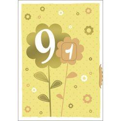 Képeslap tekerős kilencven, virág