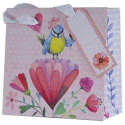 Ajándékzacskó négyzet alakú, madár