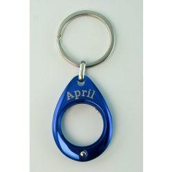 YES kulcstartó, kék, Április