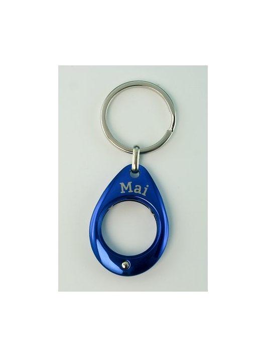 YES kulcstartó, kék, Május
