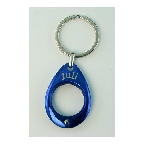 YES kulcstartó, kék, Július