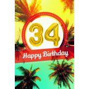 YES képeslapos lufi 34