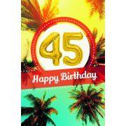YES képeslapos lufi 45