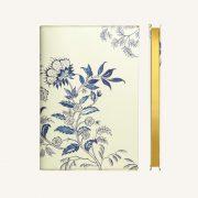 Daycraft Flower Wow vonalas jegyzetfüzet - A5 , ceramic white