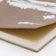 Daycraft Signature Paint Art üres lapos jegyzetfüzet -A5 ,Ezüst