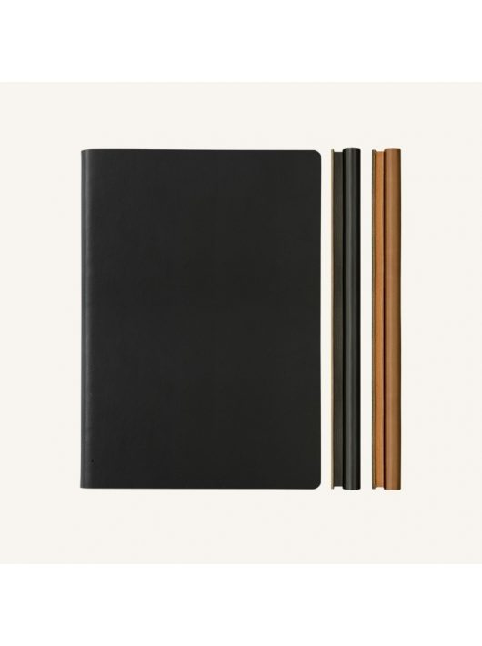 Daycraft Signature Duo vonalas / pontozott jegyzetfüzet - A5 , fekete/barna