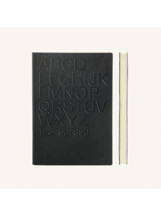 Daycraft Signature Gutenberg vonalas jegyzetfüzet - A5 , Helvetica,fekete