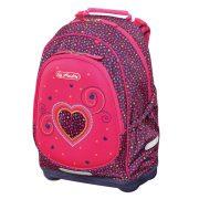 Iskolatáska Bliss üres Pink Hearts