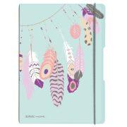 my.book flex A4 füzet 40 kockás + 40 vonalas lappal Feathers