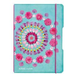 my.book flex A5 40 lapos füzet kockás Flowers