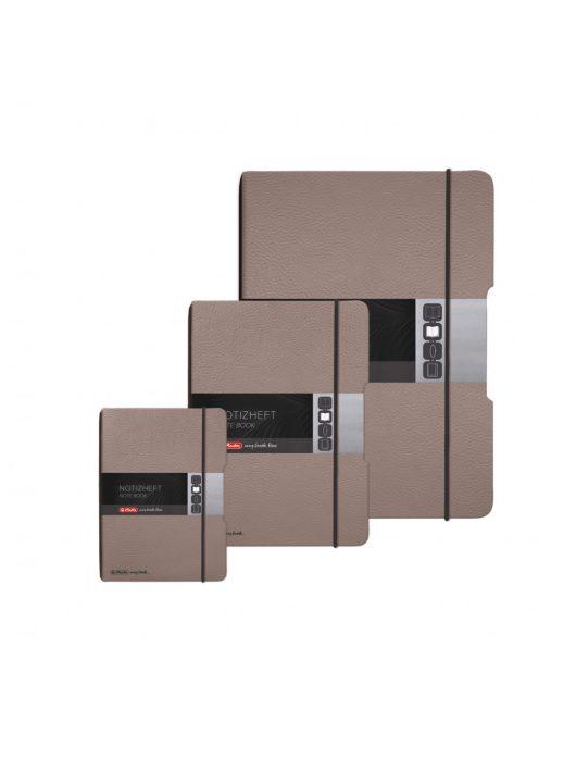 my.book flex füzet A4 bőrhatású barna, lyukasztott, perforált, 80g/m2