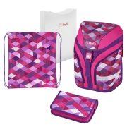 Iskolatáska  Motion Plus Pink Cubes