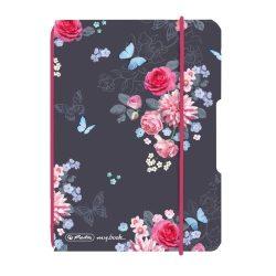 Herlitz my.book flex A6 40 lapos füzet kockás Ladylike Flower