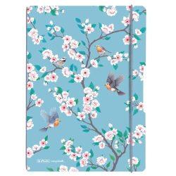 Herlitz my.book flex A4 40 kockás + 40 vonalas lap Ladylike Blue